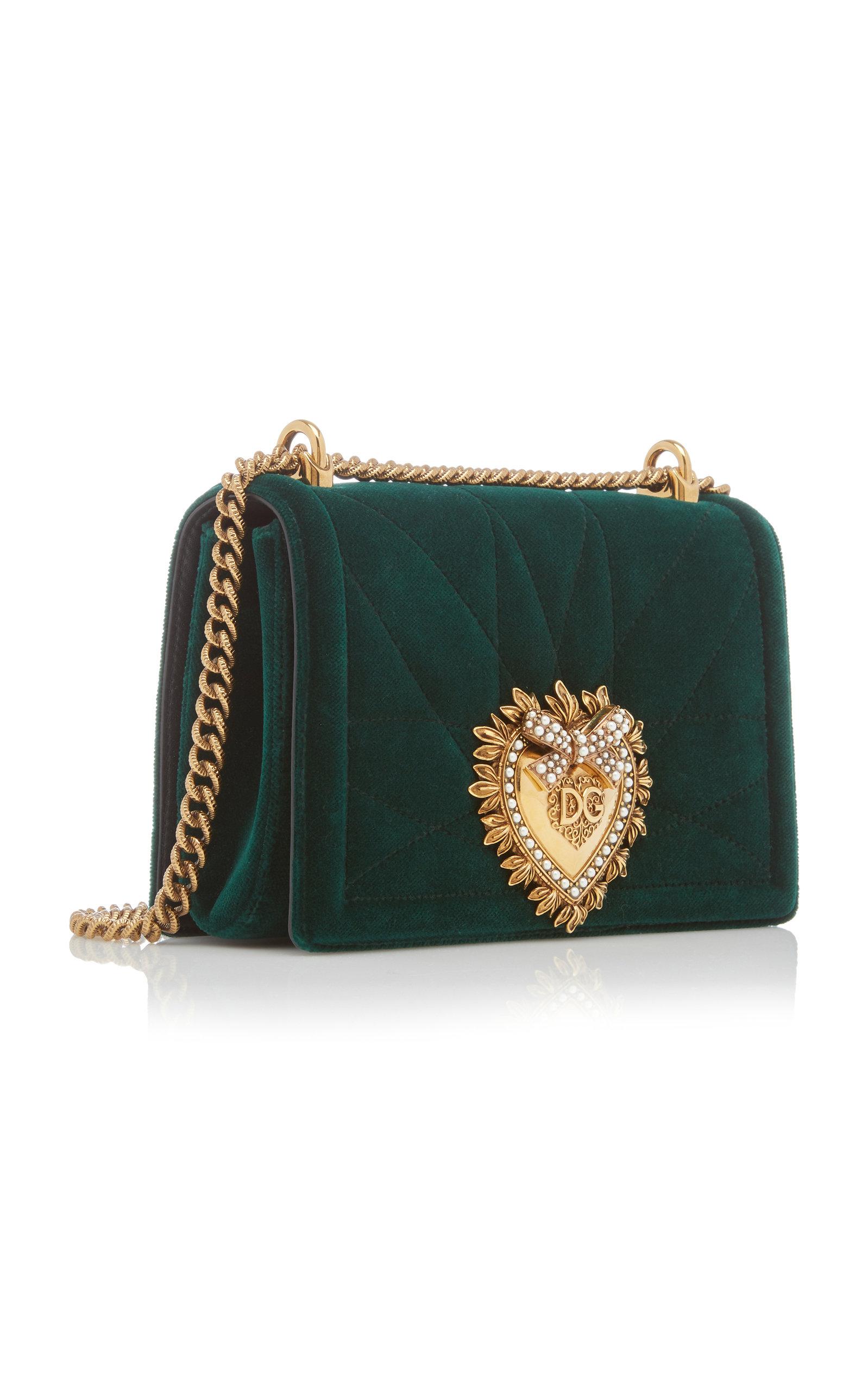 e931c8daf95 Devotion Embellished Velvet Shoulder Bag by Dolce | Moda Operandi
