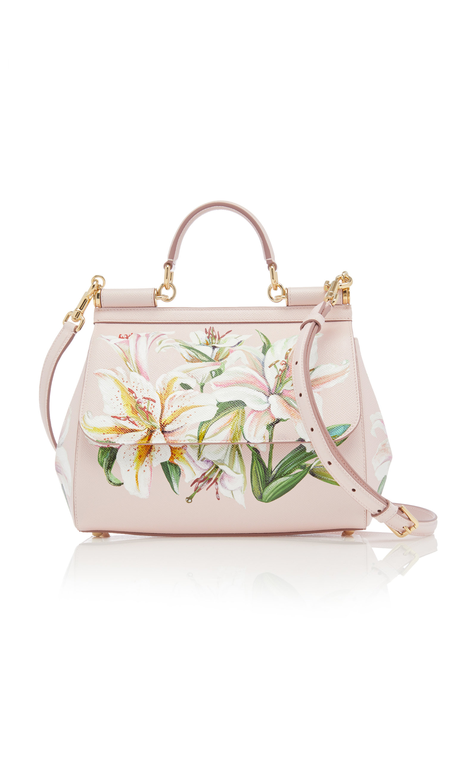 99028ce6e9 Sicily Printed Leather Bag by Dolce   Gabbana