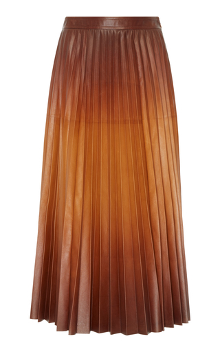 5d988cec6e PREORDER · GivenchyPleated Leather Maxi Skirt