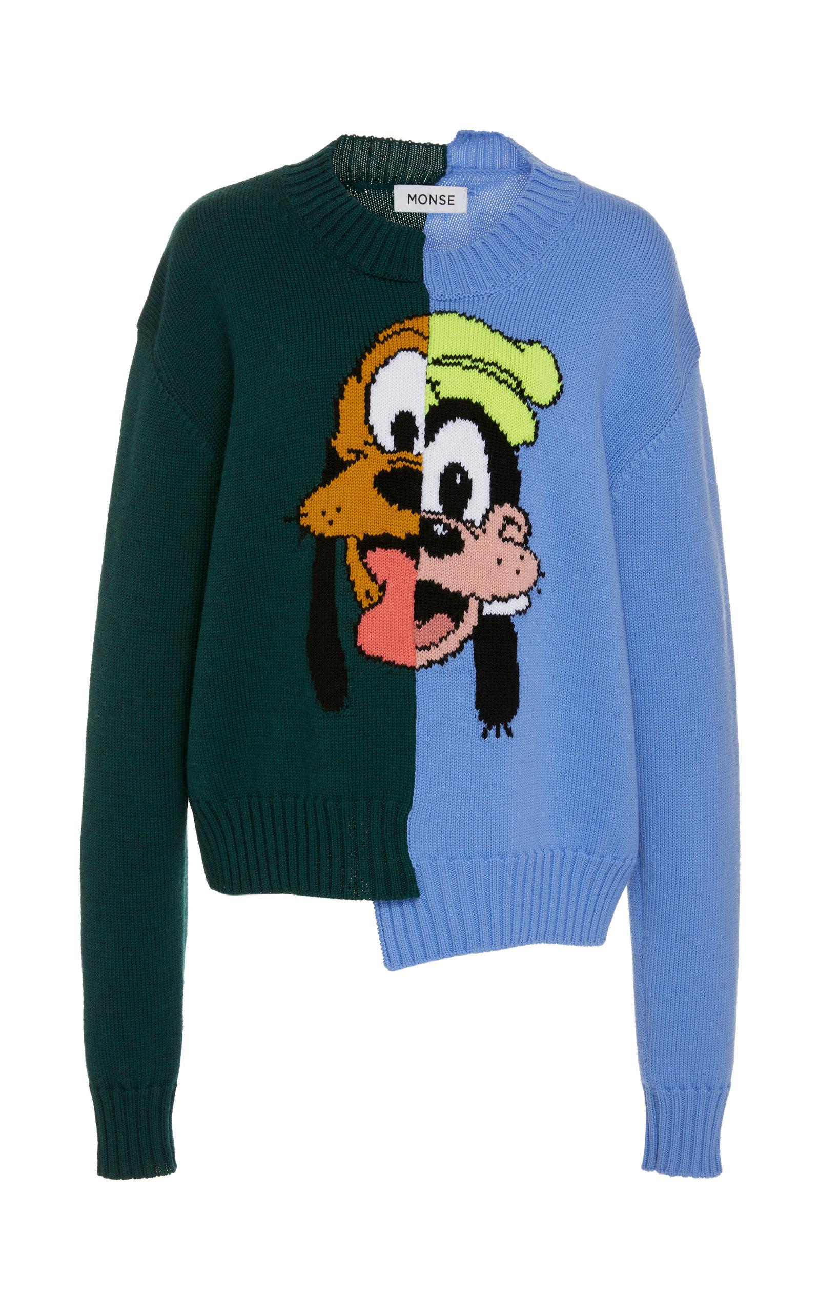 6228da41 Disney's Split Pluto And Goofy Wool Sweater by MONSE | Moda Operandi