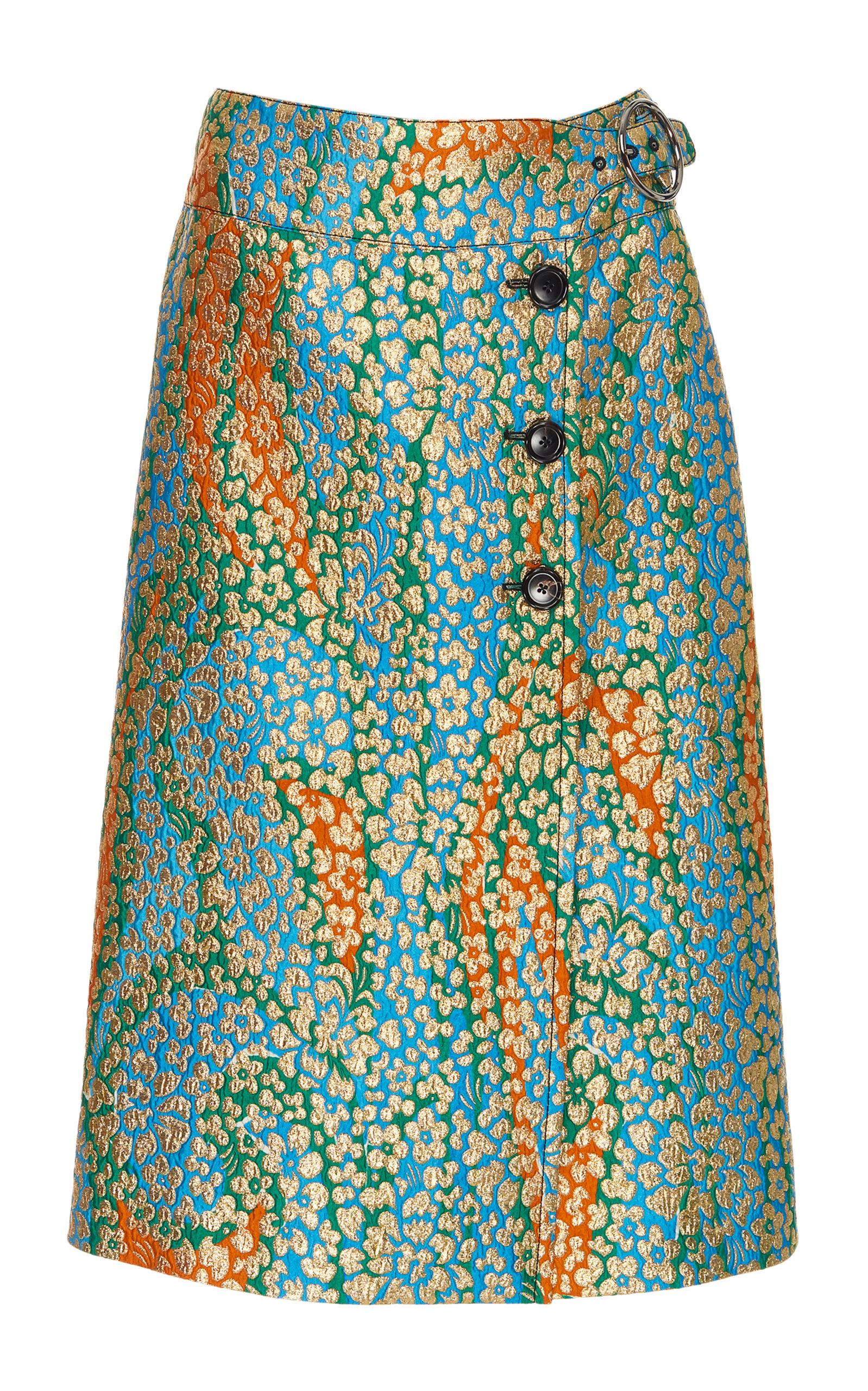 e1aed65cc Floral Metallic Wrap Skirt by Marni   Moda Operandi