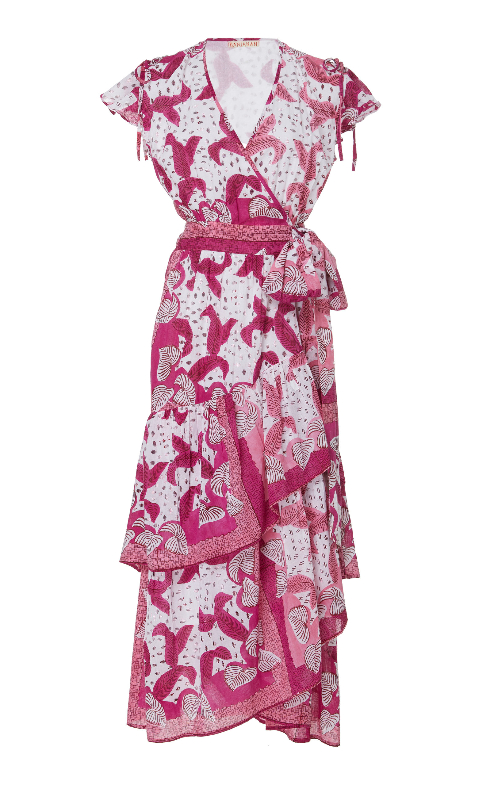 BANJANAN Mercy Cotton Voile Dress in Pink