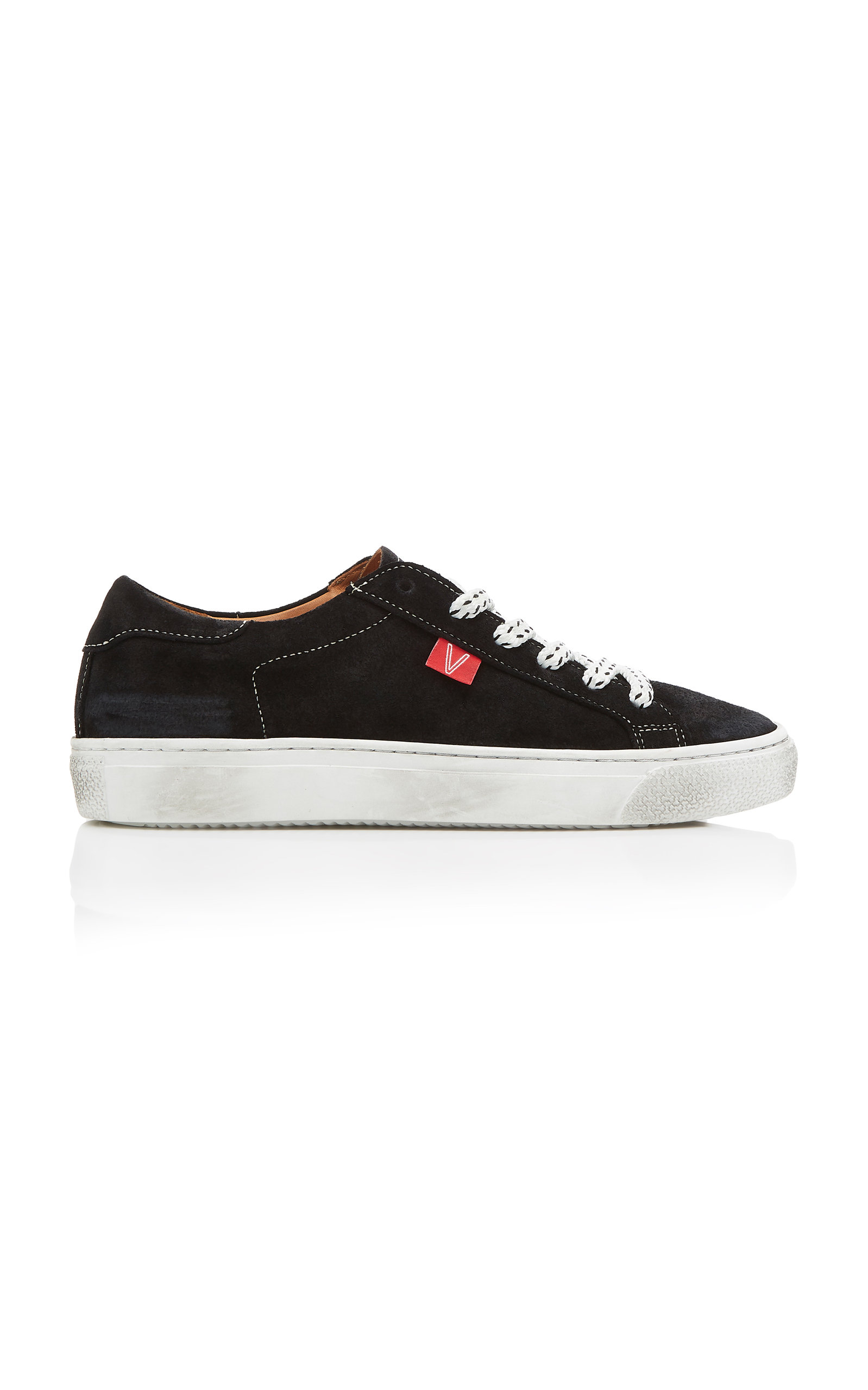 Sami Lace-Up Suede Sneakers in Black