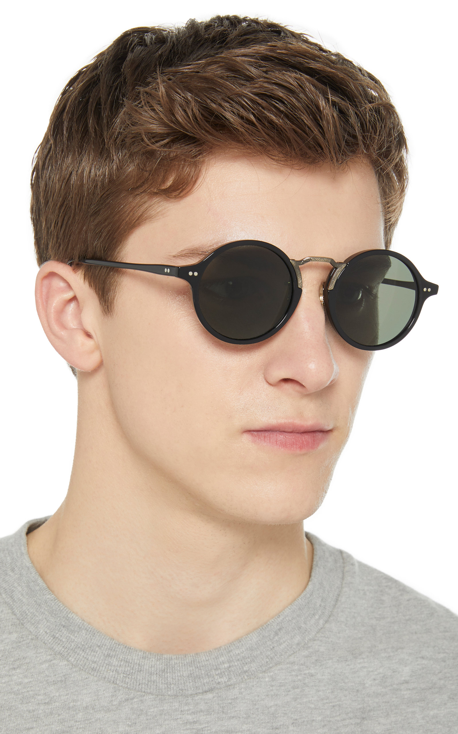 022756739a Oliver PeoplesKosa Round-Frame Acetate Sunglasses. CLOSE. Loading