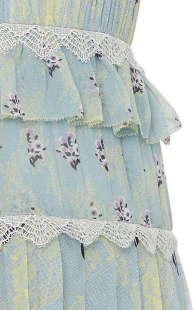 adc2d640b24c Self PortraitPleated Floral-Print Chiffon Midi Dress. CLOSE. Loading.  Loading. Loading
