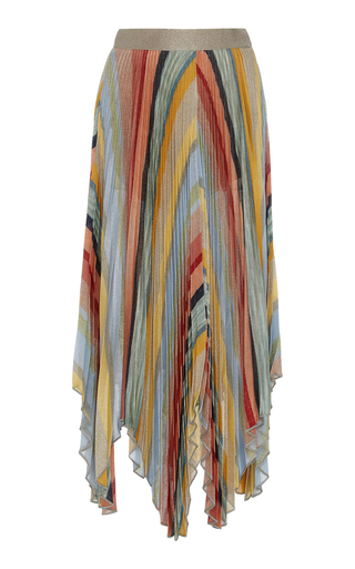d828a9d762d Long High-Rise Pleated Asymmetric Skirt by Missoni