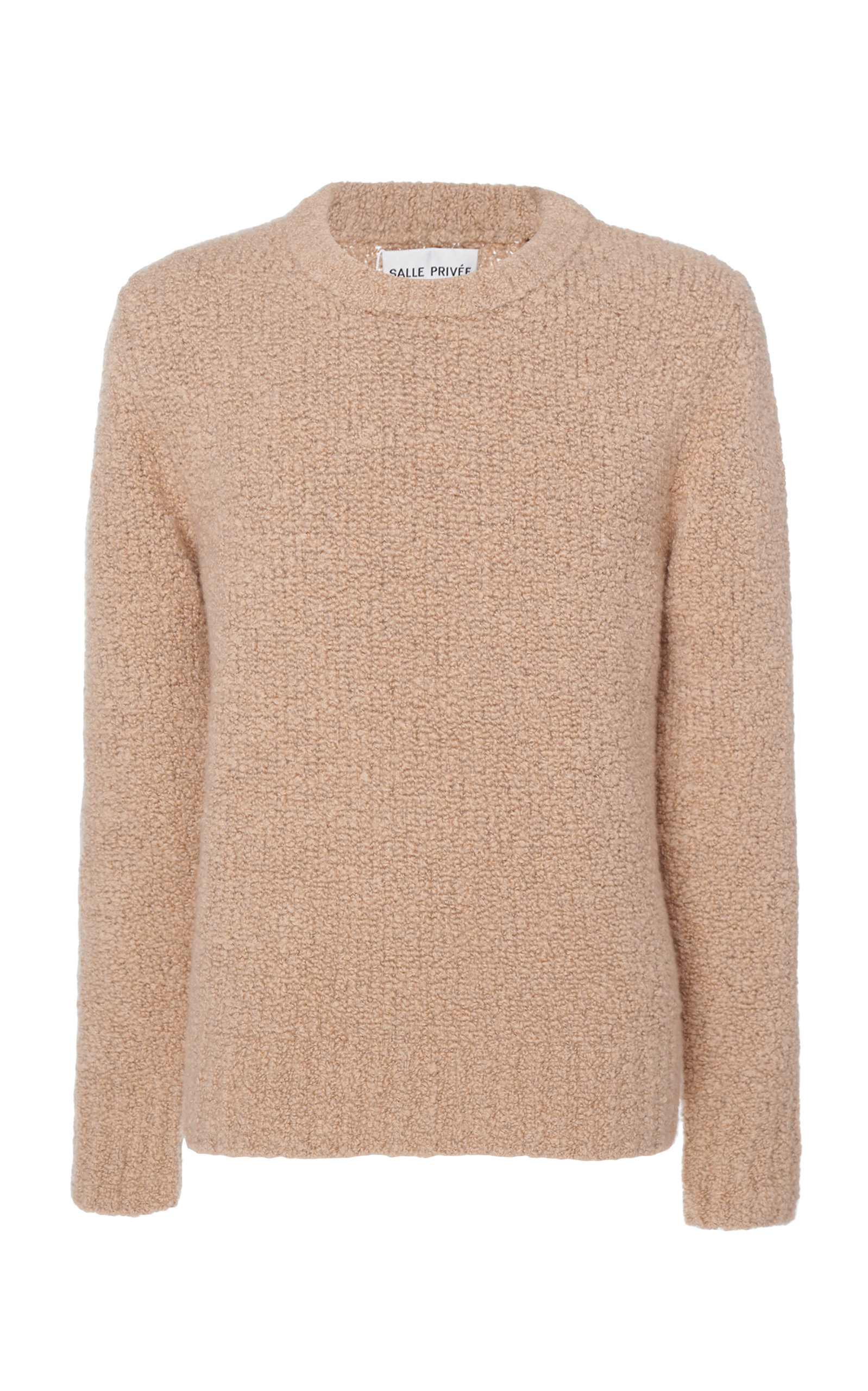SALLE PRIVÉE   Salle Privée Aren Cashmere And Silk Boucle Sweater   Goxip