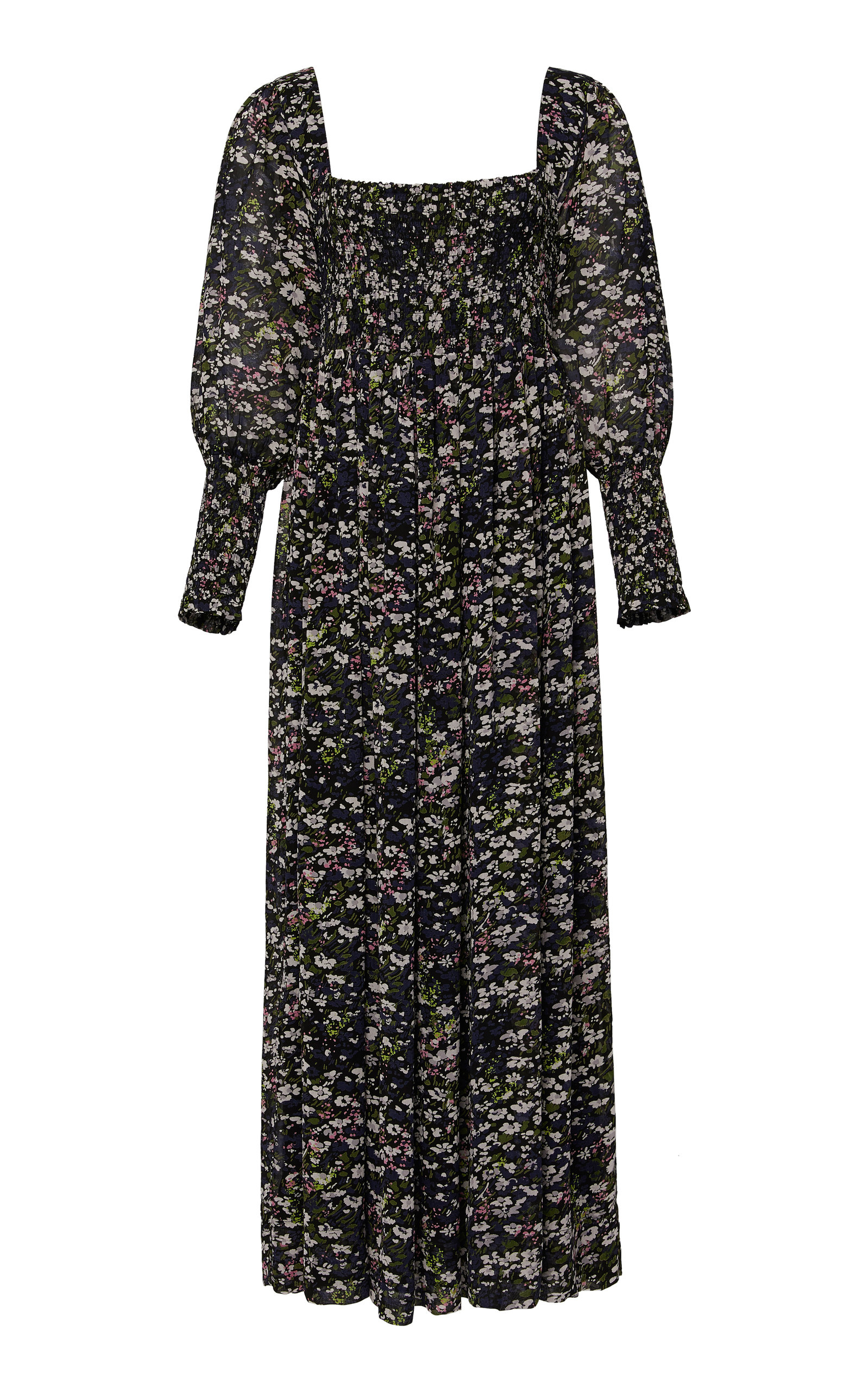 63c9f77757 Floral-Print Georgette Maxi Dress by Ganni | Moda Operandi