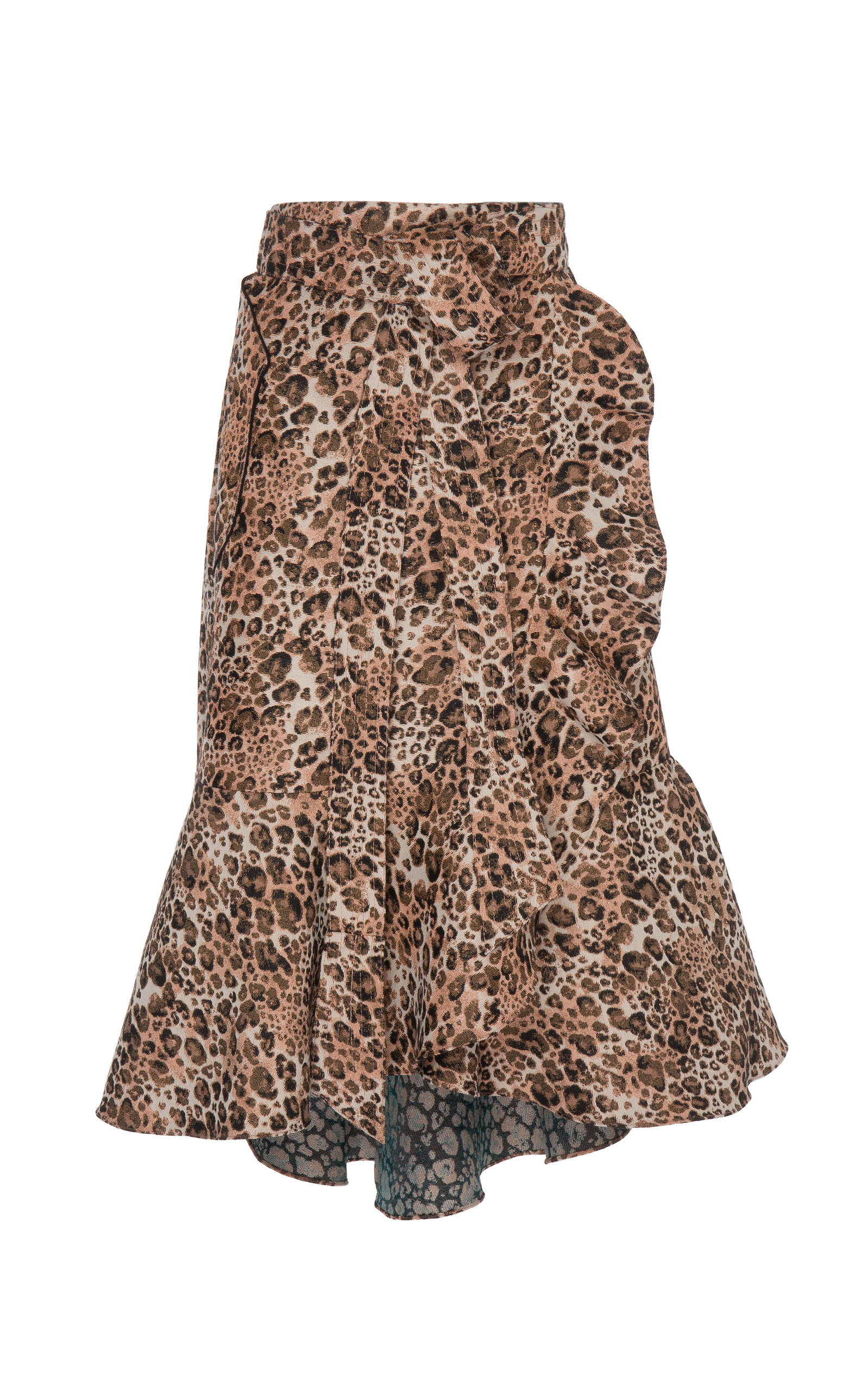 afc858f83b6470 Cynical Attitude Printed A-line Crepe Wrap Skirt by Johanna Ortiz ...