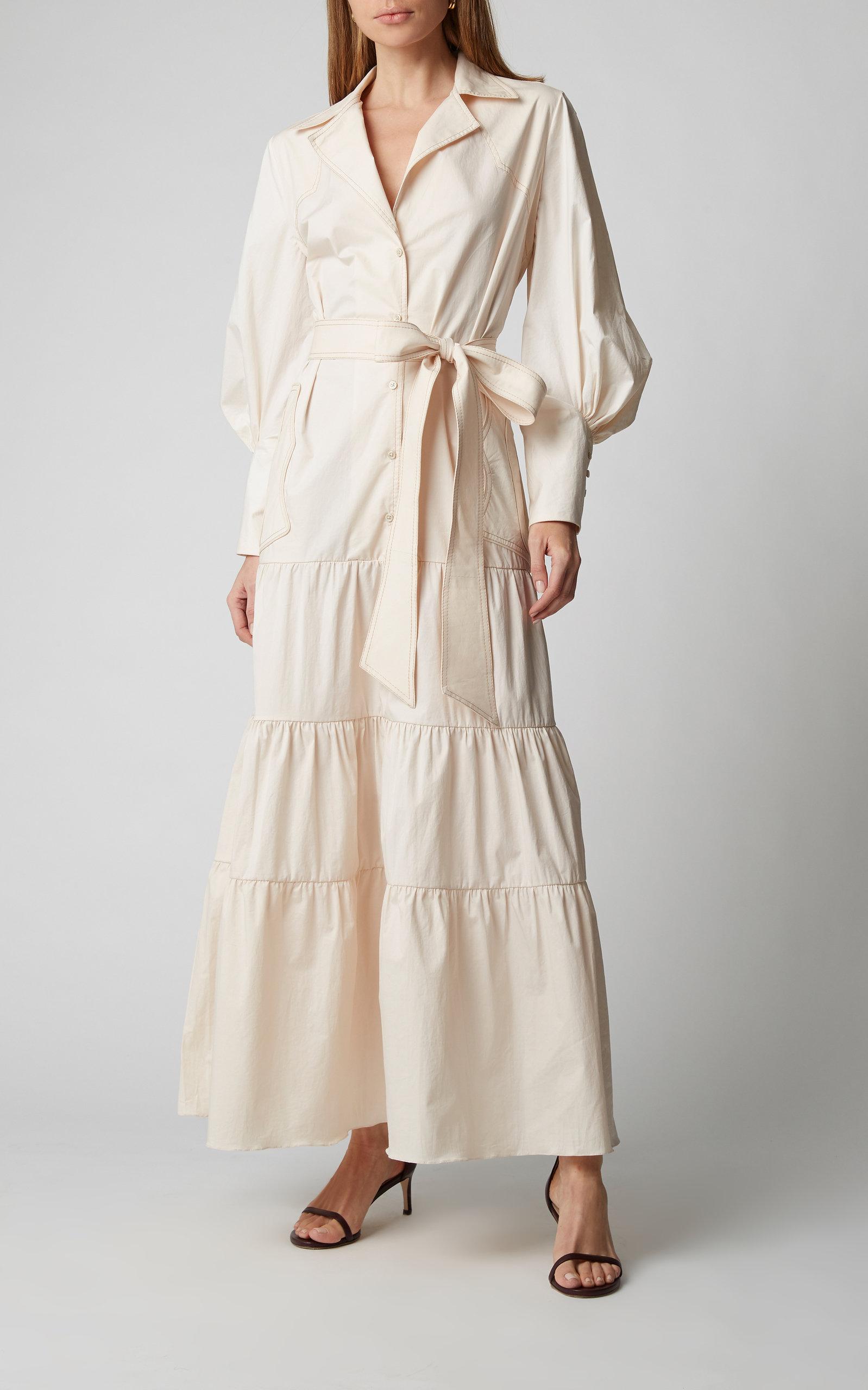 Beroemd Ring Of Fire Cotton-Blend Maxi Shirt Dress by Johanna | Moda Operandi #SB46