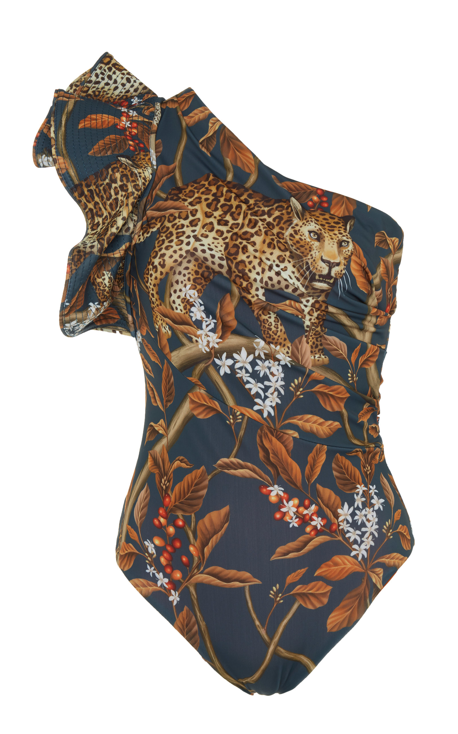 918480dcf5 Johanna OrtizIndonesian Desire Printed One-Shoulder One-Piece Swimsuit.  CLOSE. Loading