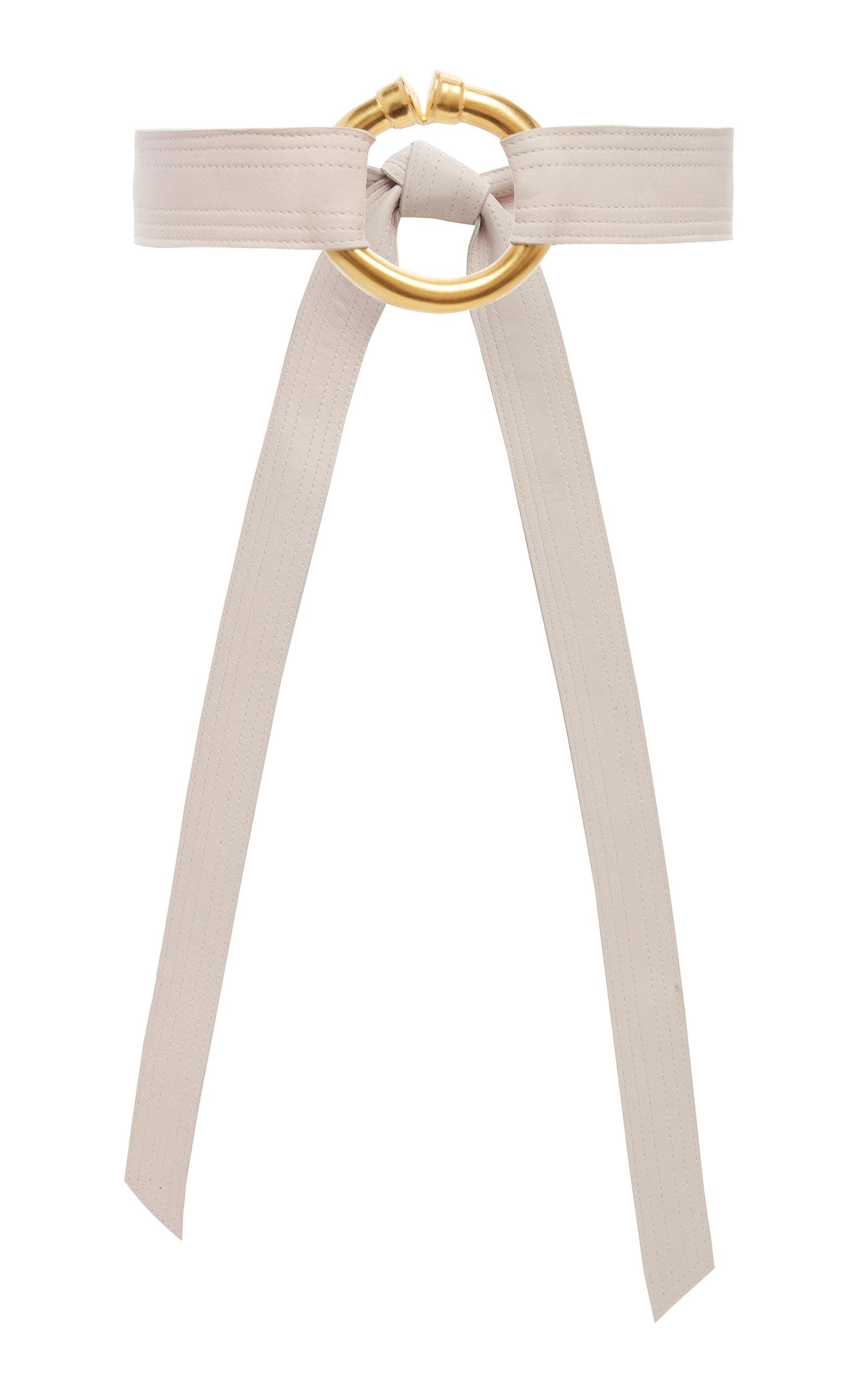 JOHANNA ORTIZ | Johanna Ortiz My Dream Painting Gold-Tone Leather Waist Belt | Goxip