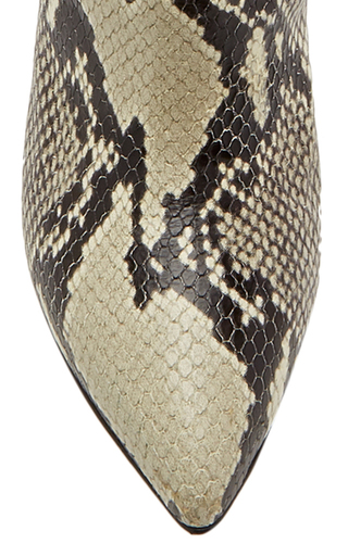 d6efa531570 Snake-Effect Leather Knee Boots by Paris Texas