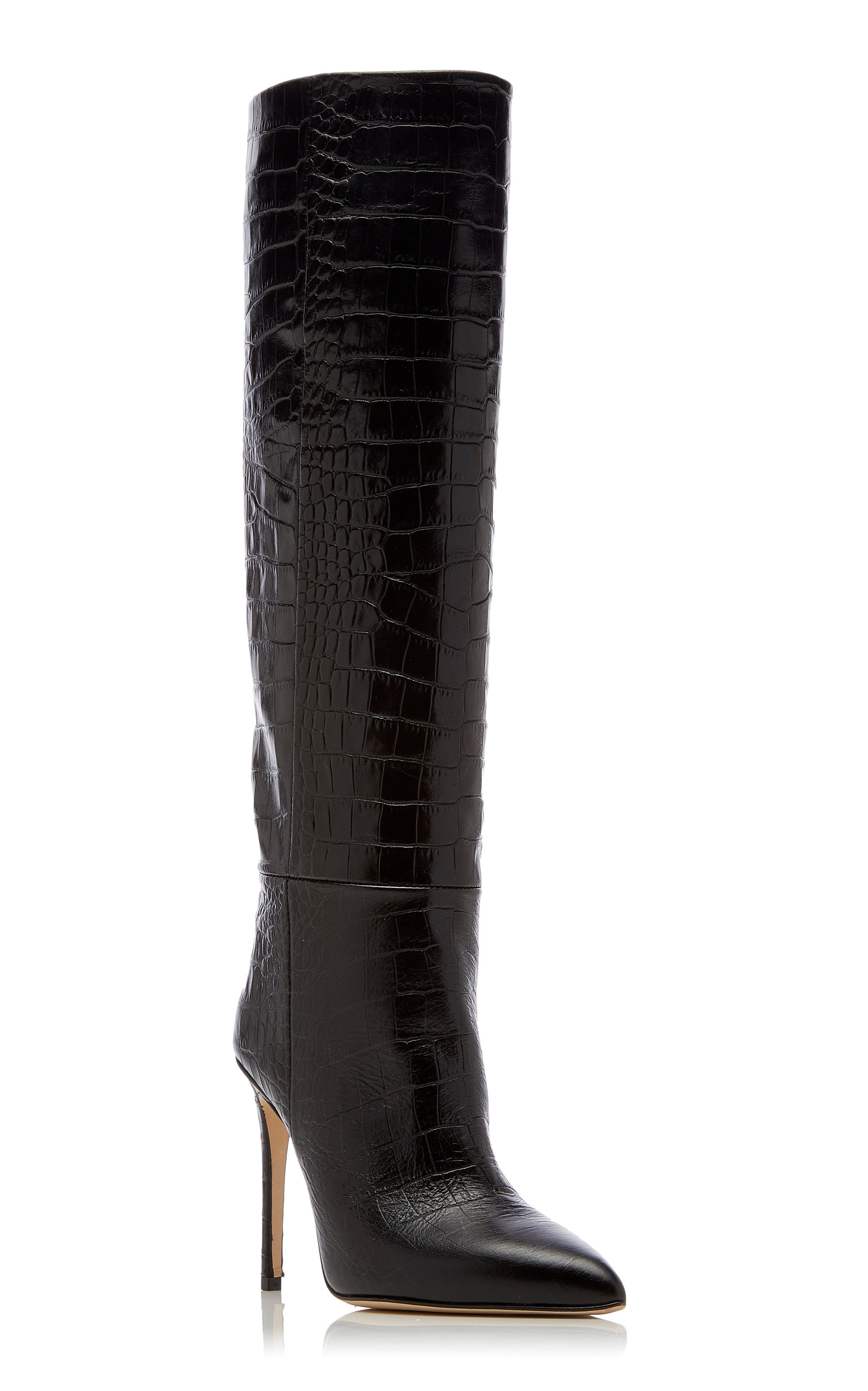 8a06959bb Paris Texas Croc-Embossed Leather Knee Boots. CLOSE. Loading. Loading.  Loading