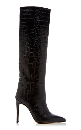 PARIS TEXAS | Paris Texas Croc-Embossed Leather Knee Boots | Goxip
