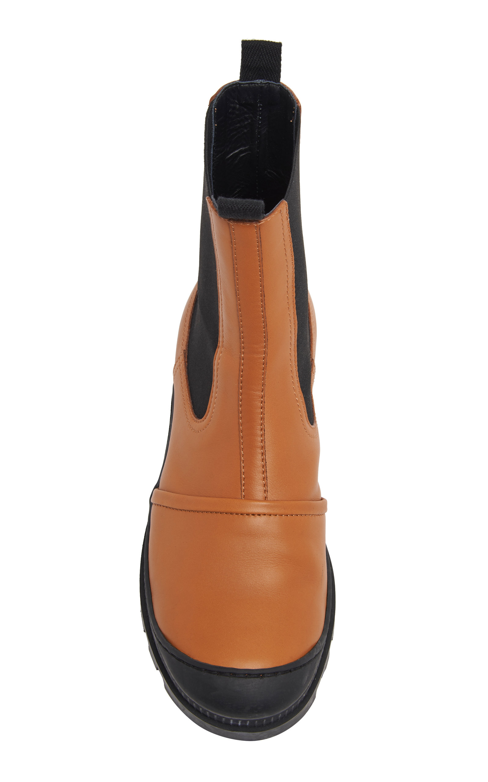 4e137264778d7 LoeweRubber-Paneled Leather Chelsea Boots. CLOSE. Loading. Loading