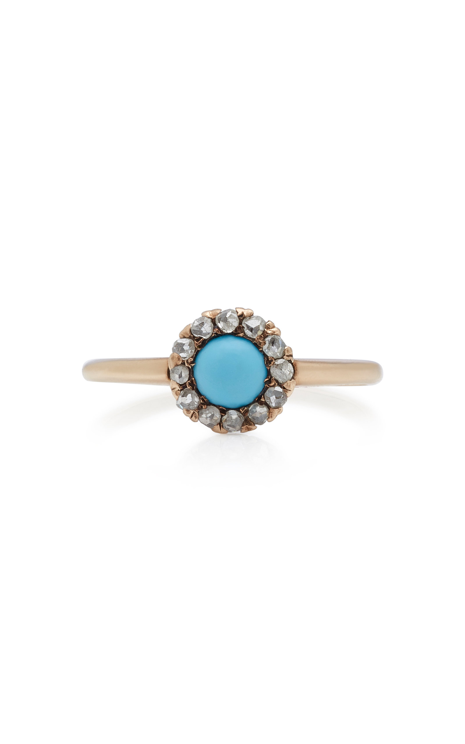 VELA | VELA 10K Gold Turquoise And Diamond Ring | Goxip