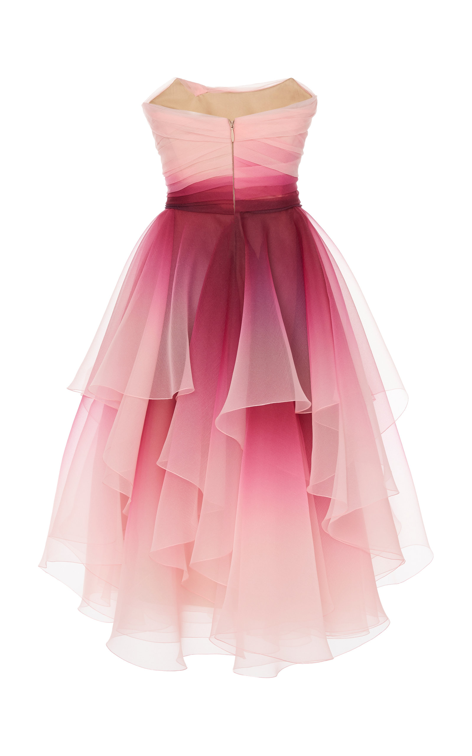 420b294f45 Strapless Ombre Organza A-Line Cocktail Dress by