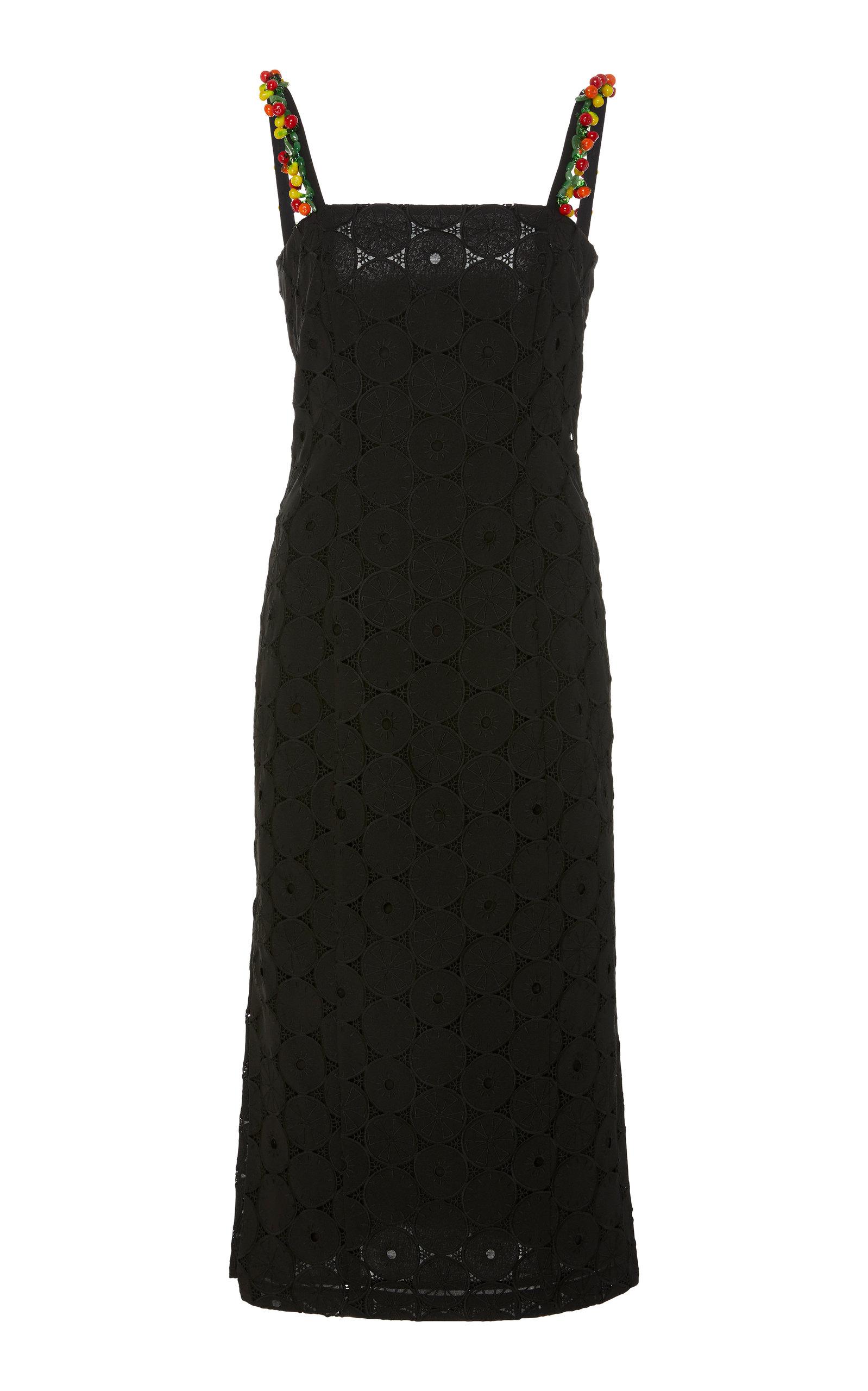 Staud Dresses Cocomaya Broderie Anglaise Cotton Midi Dress