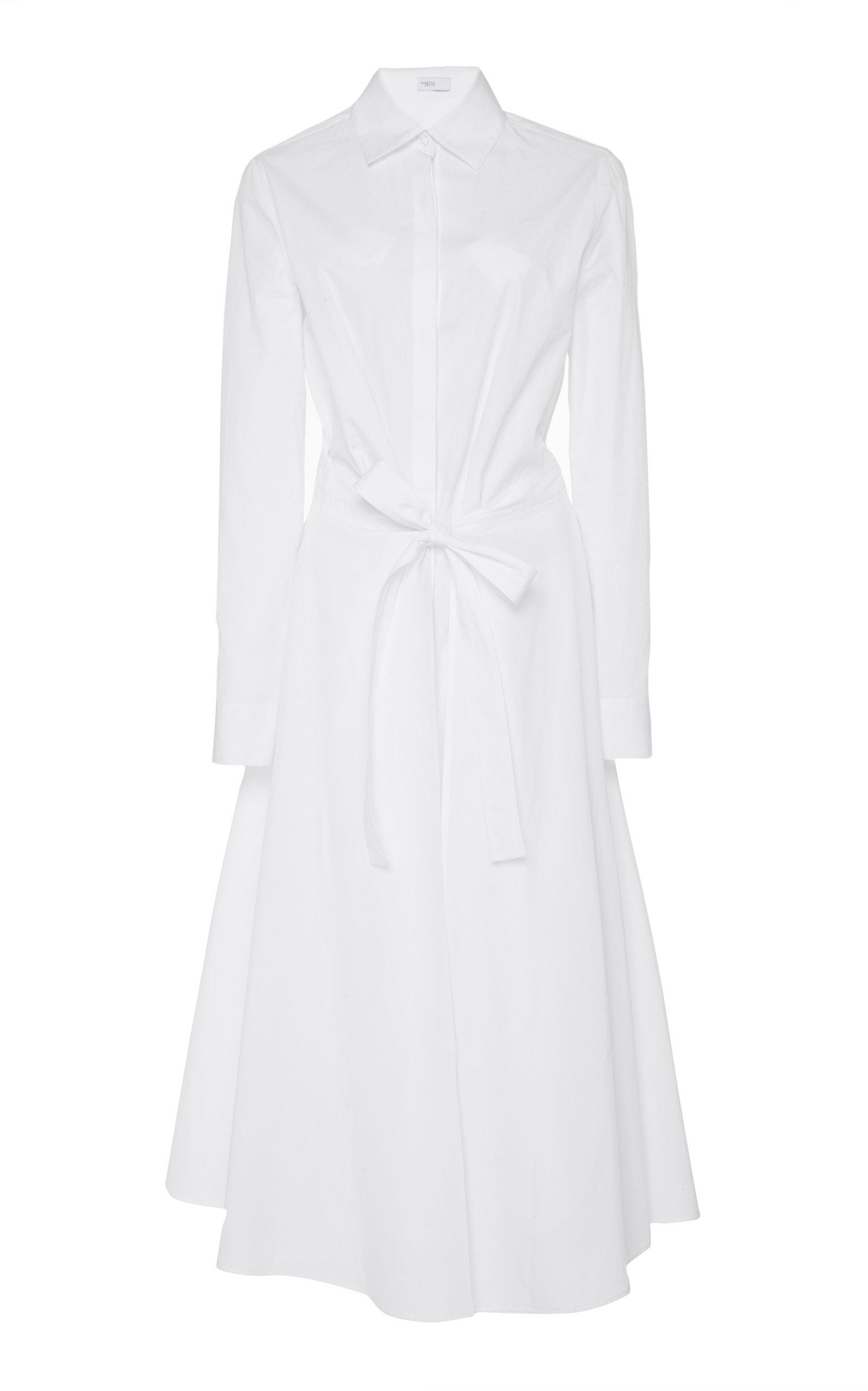 ROSETTA GETTY | Rosetta Getty Apron Wrap Cotton Shirt Dress | Goxip