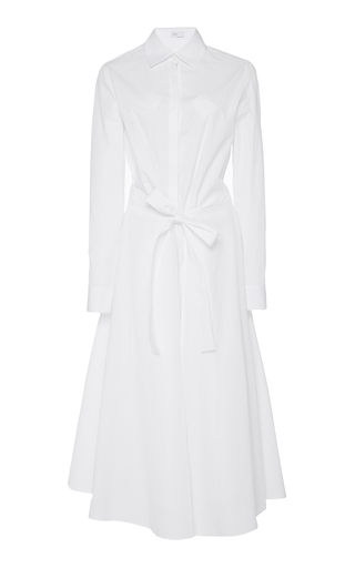 ROSETTA GETTY | Rosetta Getty Apron Wrap Cotton Shirt Dress | Goxip