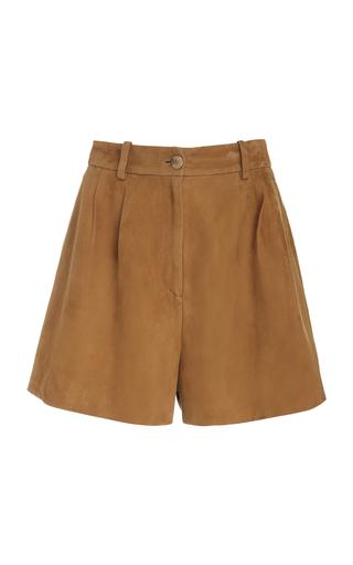 NILI LOTAN | NILI LOTAN Roxana High-Rise Suede Shorts | Goxip