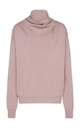 AGNONA | Agnona Draped Cashmere Turtleneck Sweater | Goxip