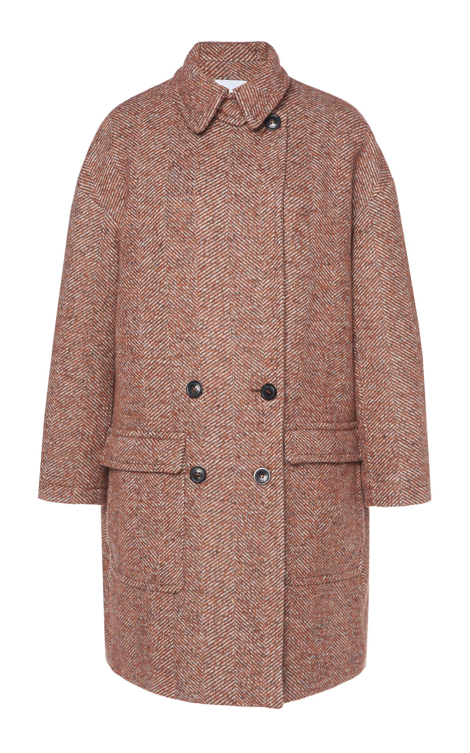 real deal discount 100% genuine Herringbone Alpaca Wool Peacoat