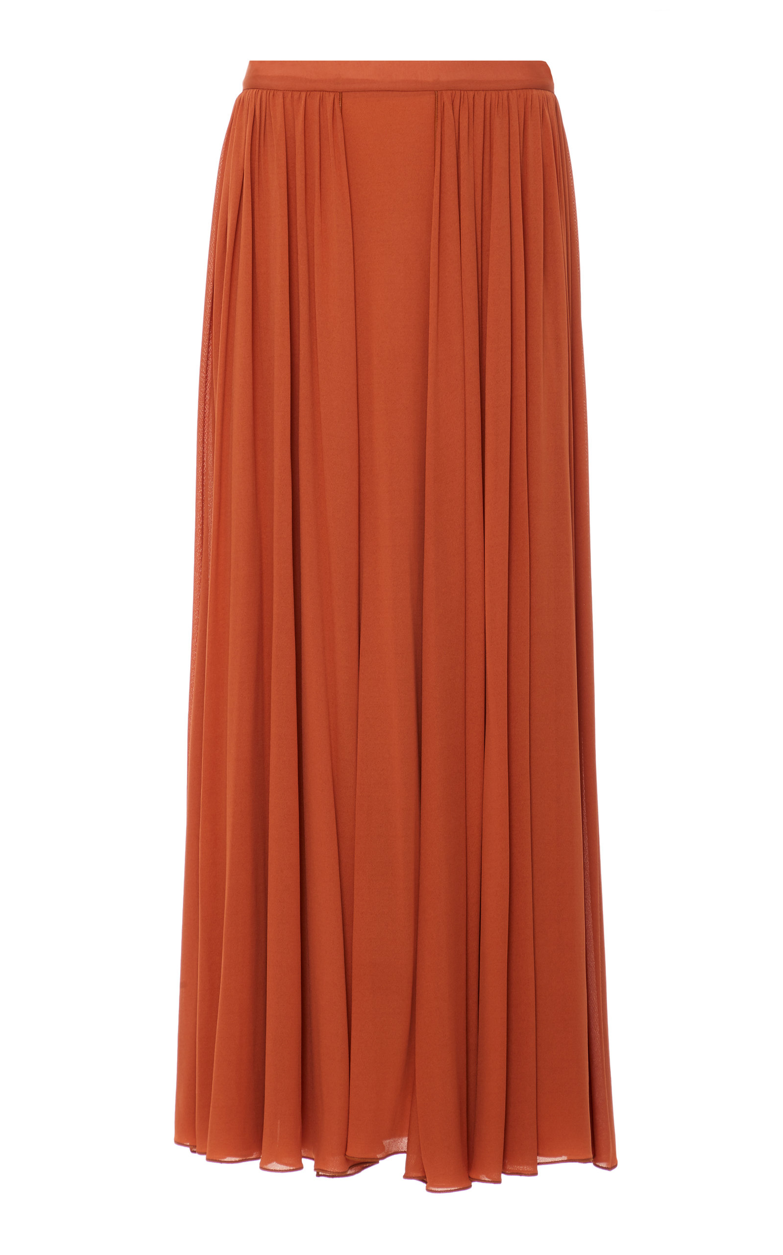 19c8166ba2 Orange Chiffon Maxi Skirt – DACC
