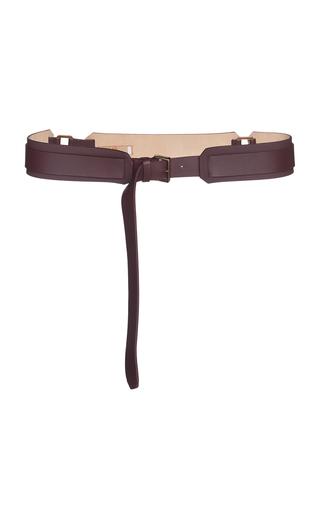 AGNONA   Agnona Ring-Detailed Leather Belt   Goxip