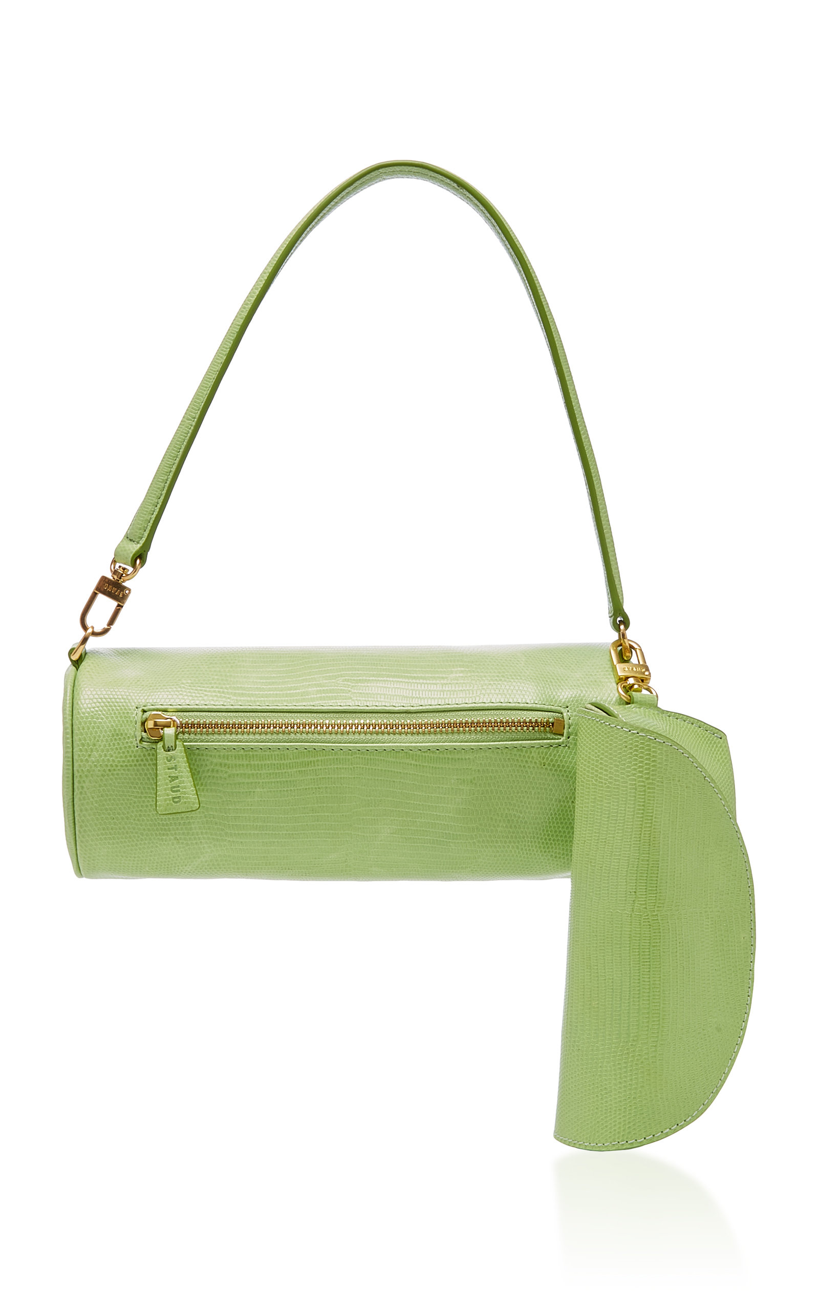 STAUD | Staud Suzy Lizard-Effect Leather Bag | Goxip