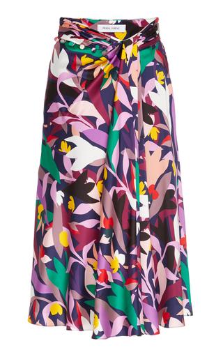 PRABAL GURUNG | Prabal Gurung Moore Printed Gathered Silk Skirt | Goxip