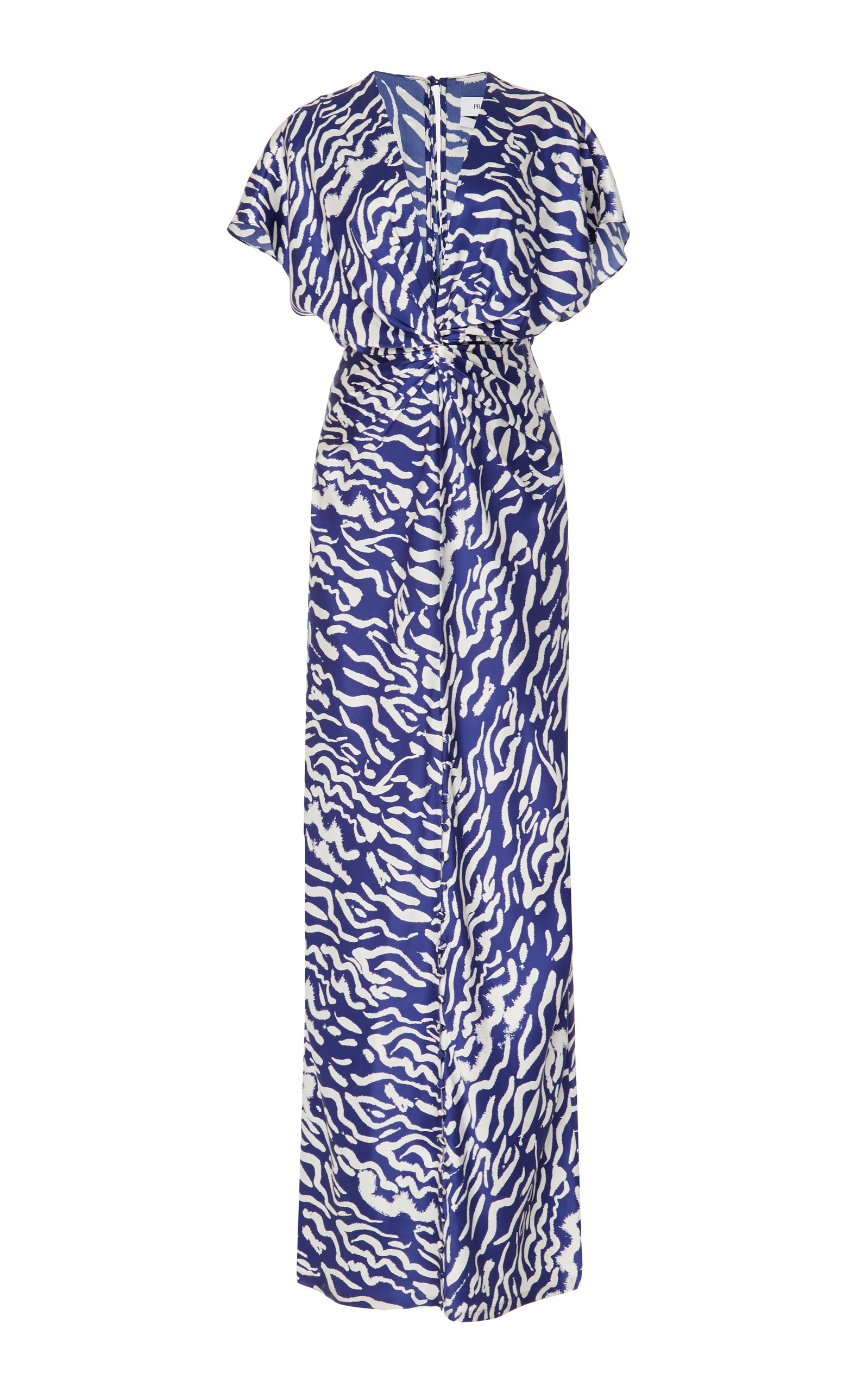 PRABAL GURUNG | Prabal Gurung Printed Twist Front Silk Dress | Goxip