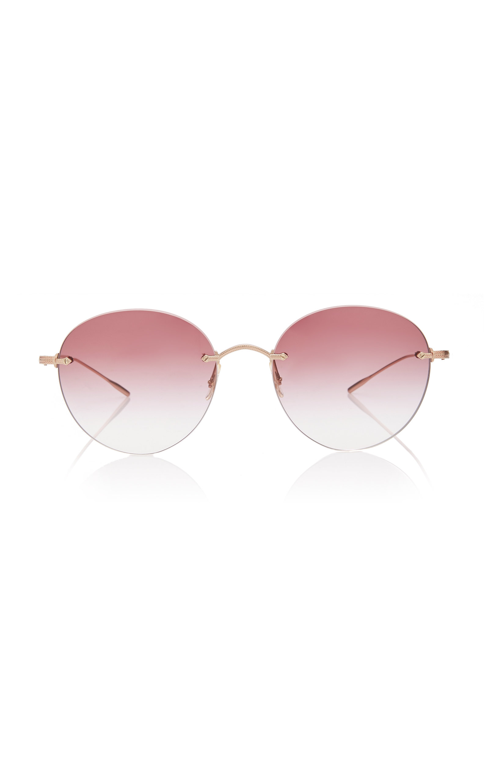 Oliver Peoples  MARLIEN ROUND-FRAME METAL SUNGLASSES