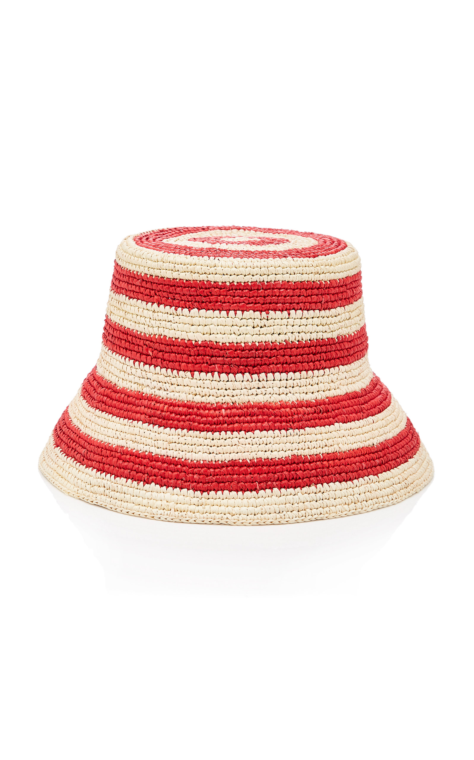 b89a641afe62ba Exclusive Striped Straw Bucket Hat by Sensi Studio | Moda Operandi