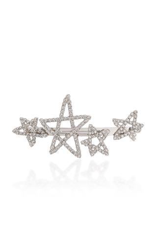 LELET NY | Lelet NY Seeing Stars Rhodium-Plated Crystal Barrette | Goxip