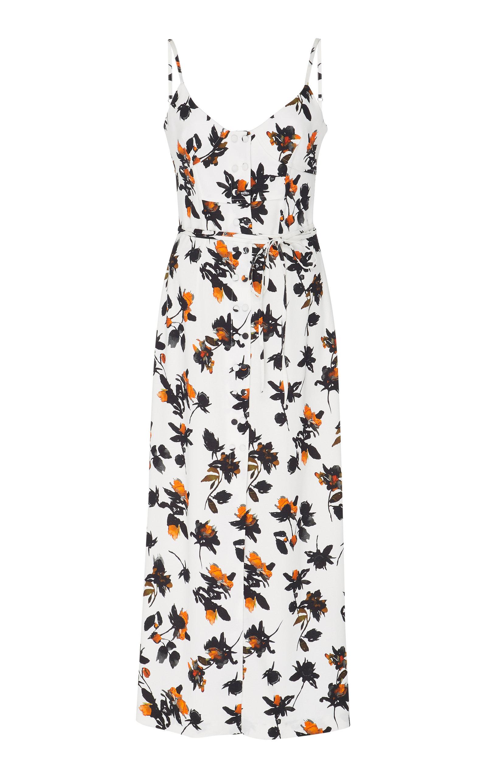 Derek Lam Floral-Print Crepe Midi Dress