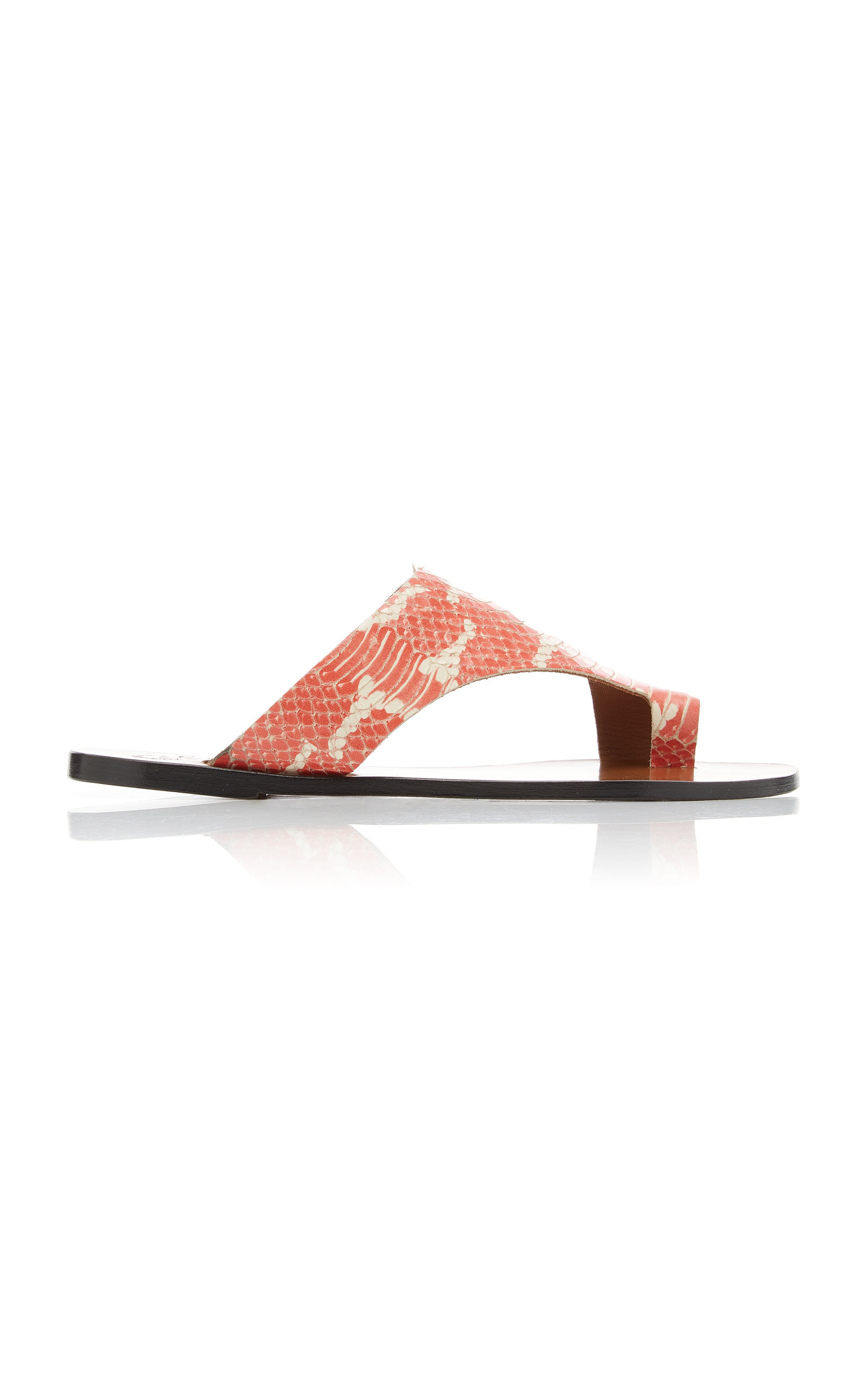 ATP ATELIER | ATP Atelier Roma Snake-Effect Leather Sandals | Goxip