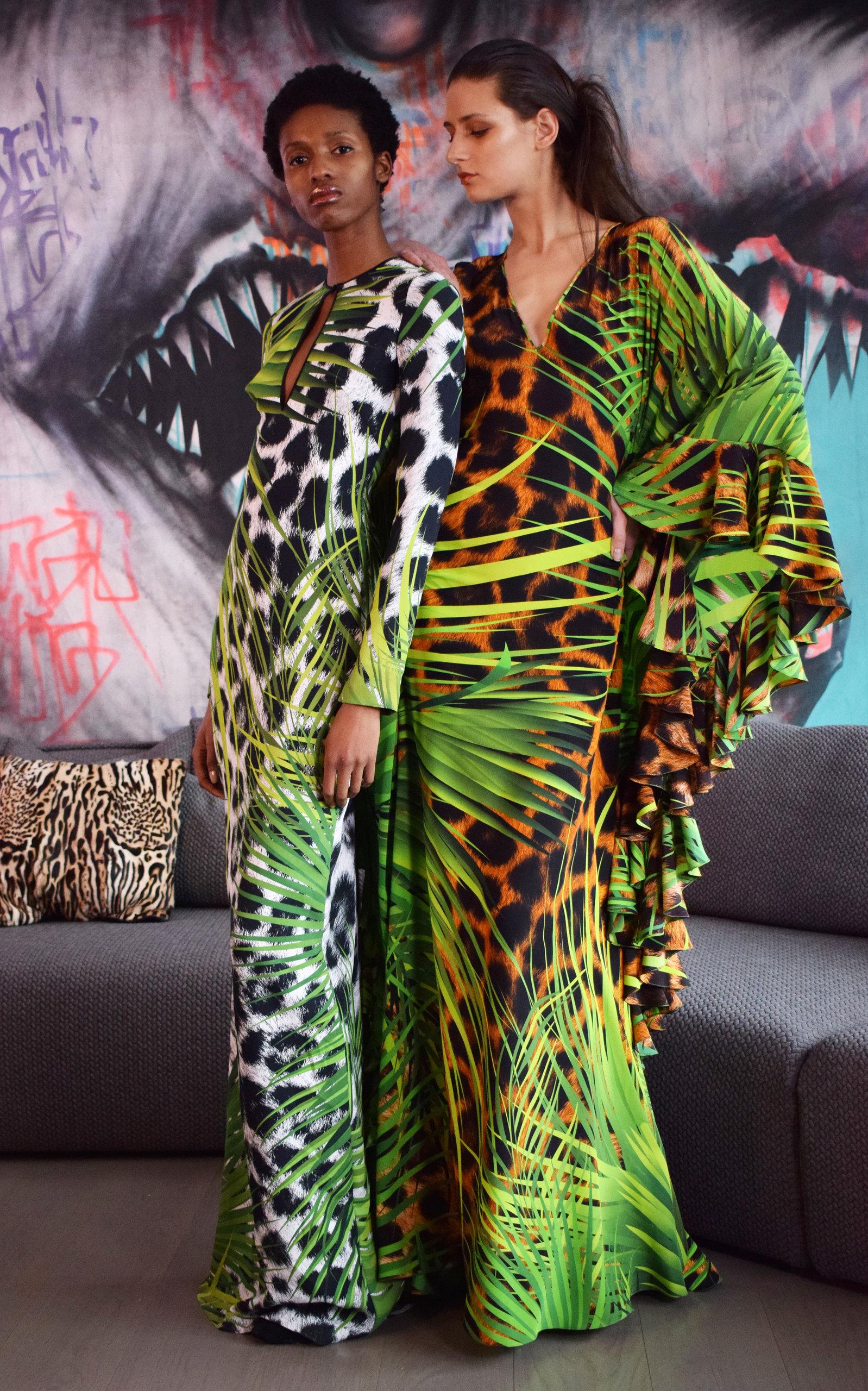 5a4c7be30 Silk Jungle Animal Print Caftan by Naeem Khan | Moda Operandi