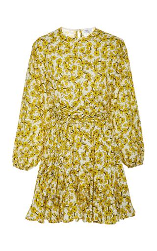 Rhode ELLA FLORAL-PRINT COTTON-POPLIN MINI DRESS