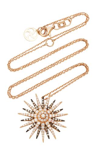 BEE GODDESS | Bee Goddess Jardin Star 14K Gold Diamond Pendant | Goxip