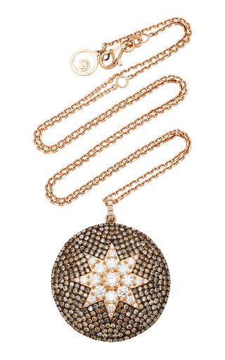 BEE GODDESS | Bee Goddess Venus Star 14K Rose Gold Diamond Necklace | Goxip