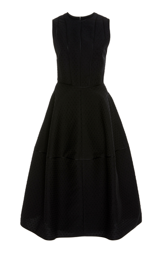 Narciso Rodriguez DOT JACQUARD SCULPTED DRESS