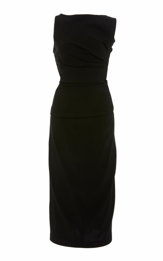 Narciso Rodriguez Bias Draped Crepe Dress
