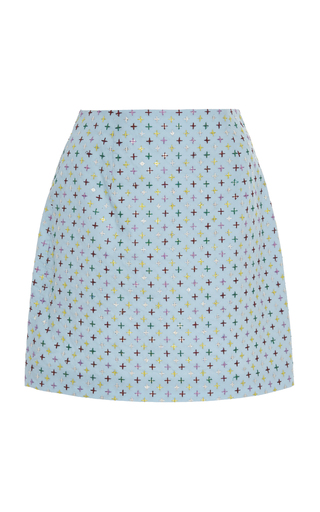 MARKARIAN | Markarian Exclusive Embroidered Cotton Mini Skirt | Goxip