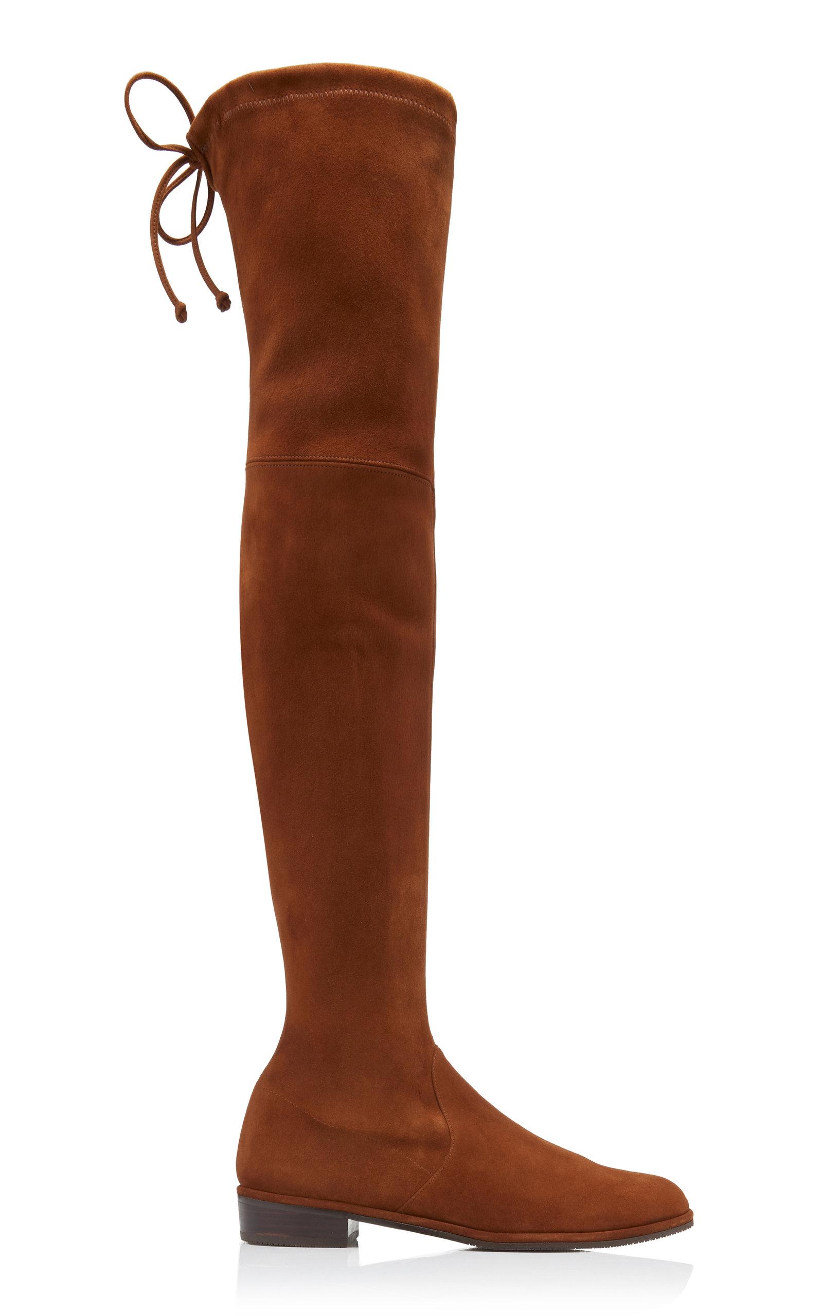 Stuart Weitzman Boots Lowland Over-The-Knee Suede Boots