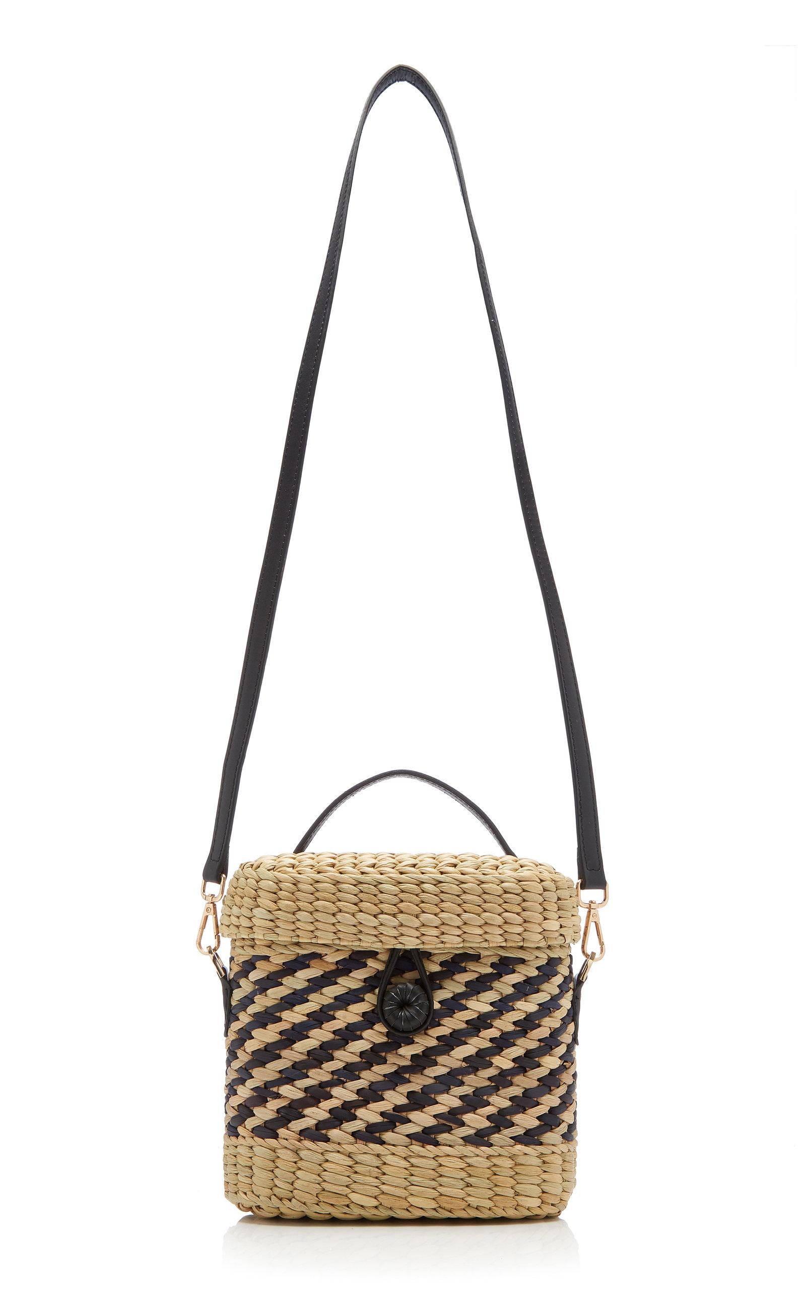 Ashleigh Striped Raffia Bag