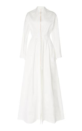 BRANDON MAXWELL | Brandon Maxwell Exclusive Long Sleeved Cotton Sateen Caftan Gown | Goxip