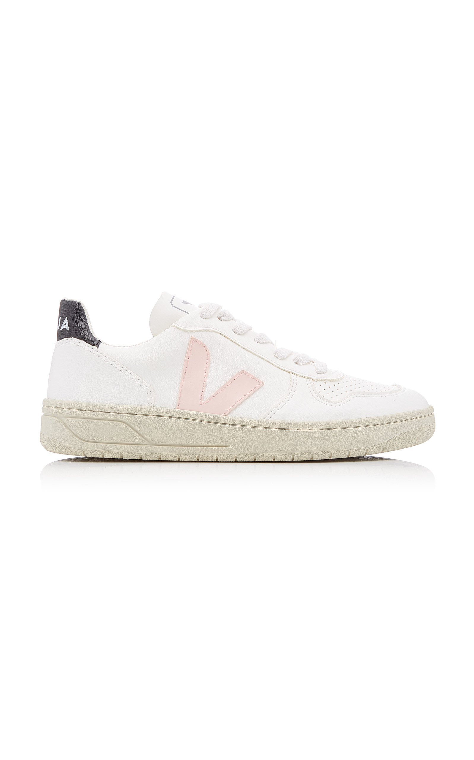 VEJA | VEJA V-10 Bastille Leather Sneakers. | Goxip