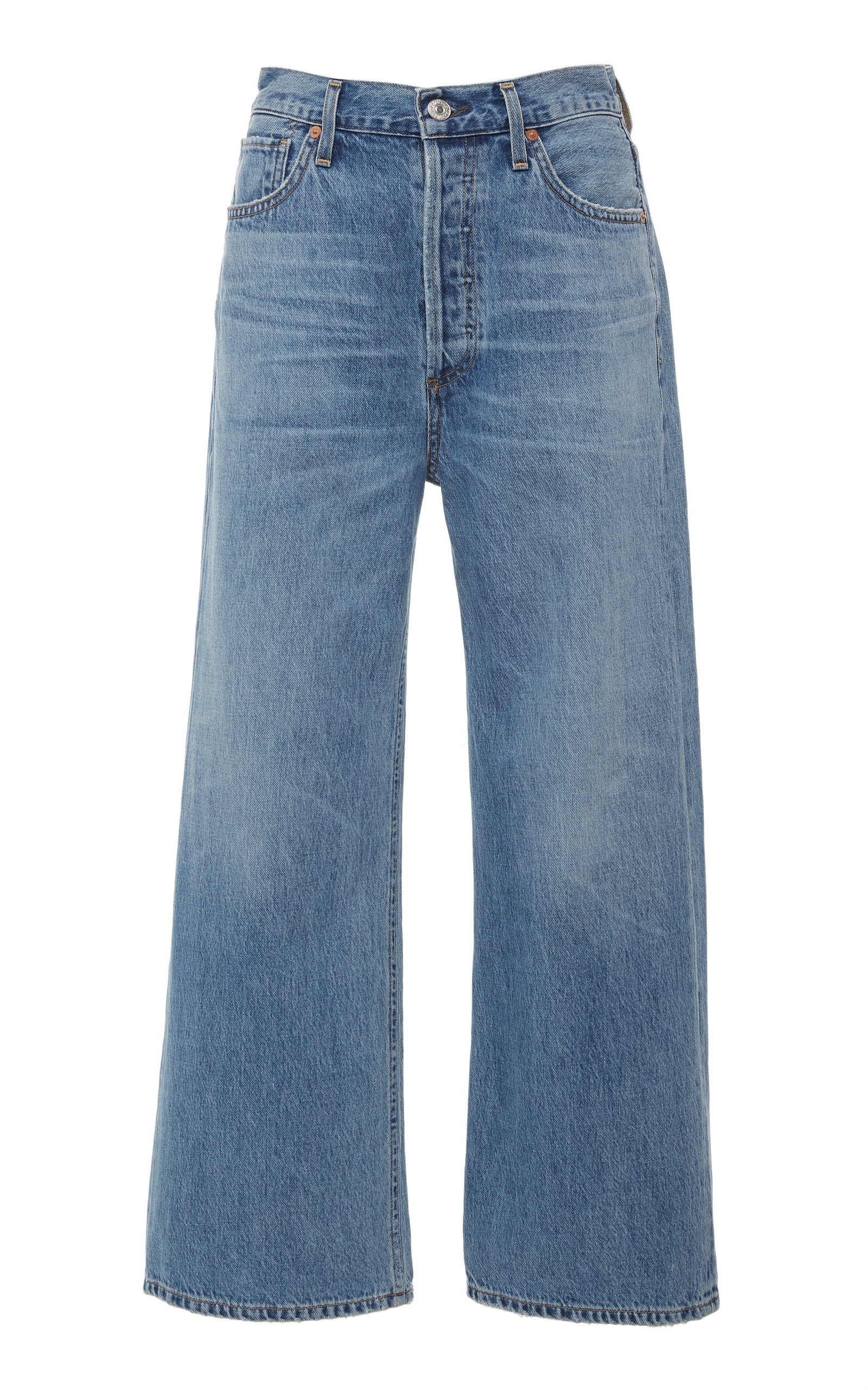 CITIZENS OF HUMANITY | Citizens Of Humanity Sacha Cropped High-Rise Wide Leg Jeans | Goxip